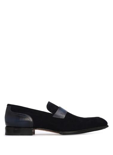 Moreschi %100 Deri Loafer Ayakkabı Lacivert